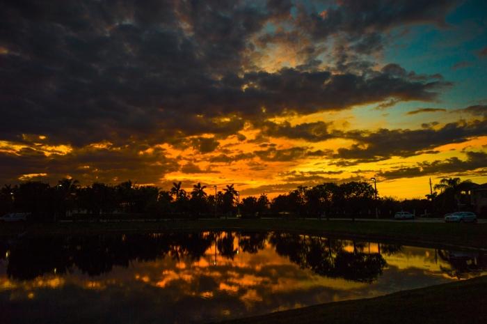 Sunset over Briar Bay