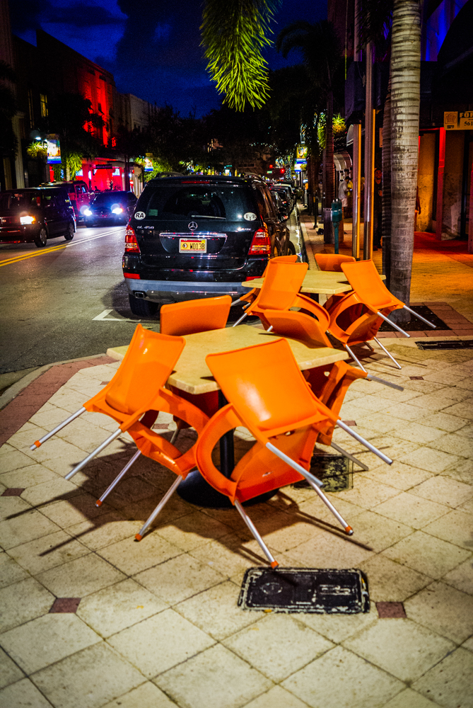 The chairs are so anxious they huddle in excited anticipation of the oncoming crowd of raucous party-goers!
