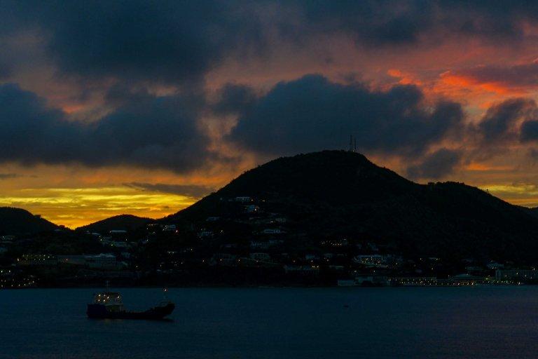 Quiet night over Sint Maarten