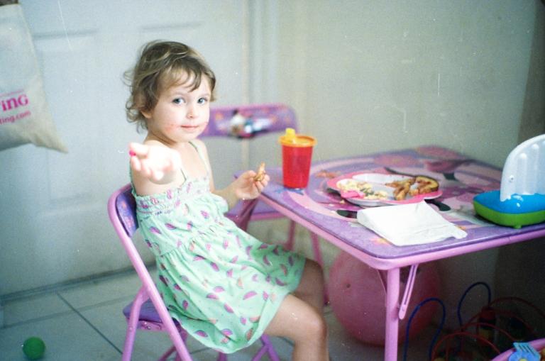 Emily shares breakfast